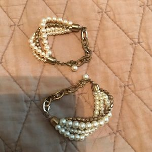 Jewelry - 3 for $10- 2 pearl and gold bracelets